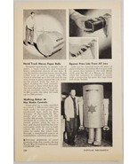1948 Magazine Photo Walking Robot Controlled by Radio Weighs 400 Pounds - $12.85