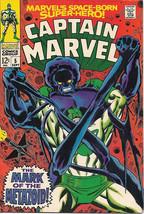Captain Marvel Comic Book #5, Marvel Comics 1968 FINE-/FINE - $18.30