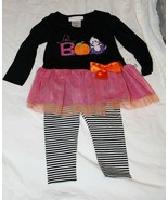 New Baby Toddler Girl Bonnie Jean Halloween Outfit Ghost Boo 12 18 24 Month - $19.99