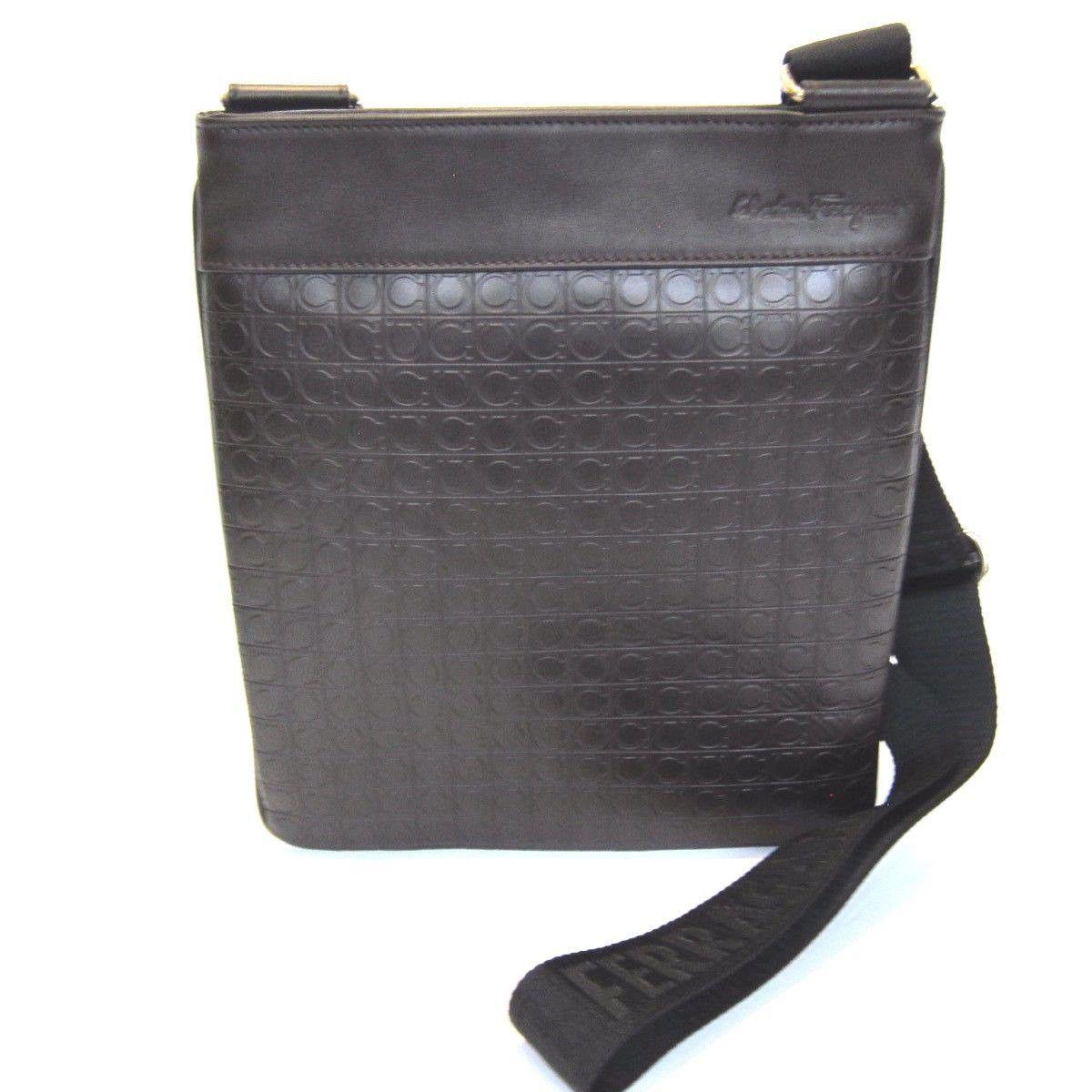 S l1600. S l1600. Previous. B-288223 New Salvatore Ferragamo Brown Logo  Leather Messenger Shoulder Bag f4e2e09c9795c