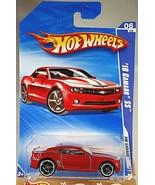 2010 Hot Wheels #74 HW Garage 6/10 '10 CAMARO SS Red Variation w/Black O... - $10.25
