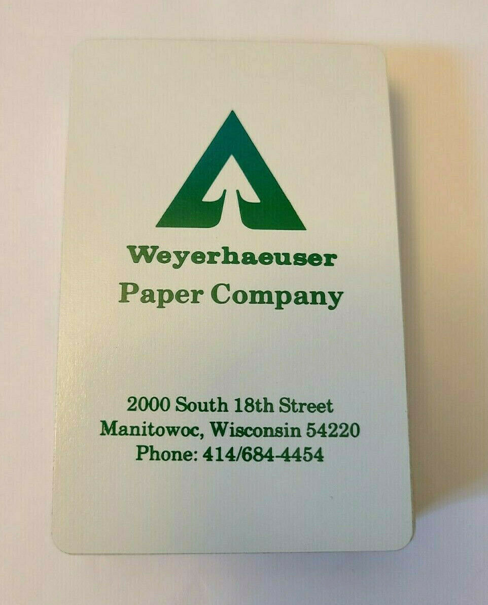 Weyerhaeuser Paper Company Gemaco Deck of Playing Cards   (#016)