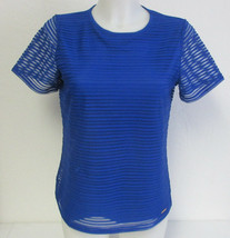 Calvin Klein Women's Stretch Textured Shirt- Regatta (Blue) Size: Small - $10.00