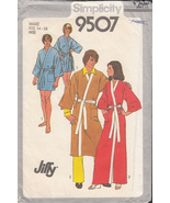 1980s Vintage Simplicity 9507 Jiffy Kimono Robe in Two Lengths - $8.00