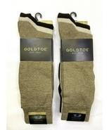 Gold Toe 6 Pairs Flat Knit Extended Size Sock Men's 12-16 Brown Tan 3180E - $34.65