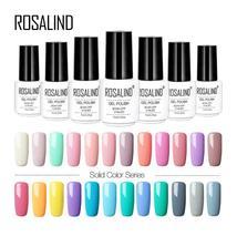 ROSALIND 7ML Pure Color Gel Nail Polish 31-58 Colors UV&LED Lamp Extensi... - $2.02