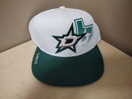 New Adidas Nhl Dallas Star Adjustable Hat White 11DW-527 - $9.50