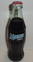 COCA COLA CLASSIC BOTTLE Marlins 1994 Glass Unopened 8oz Coke Florida Miami - $2.69