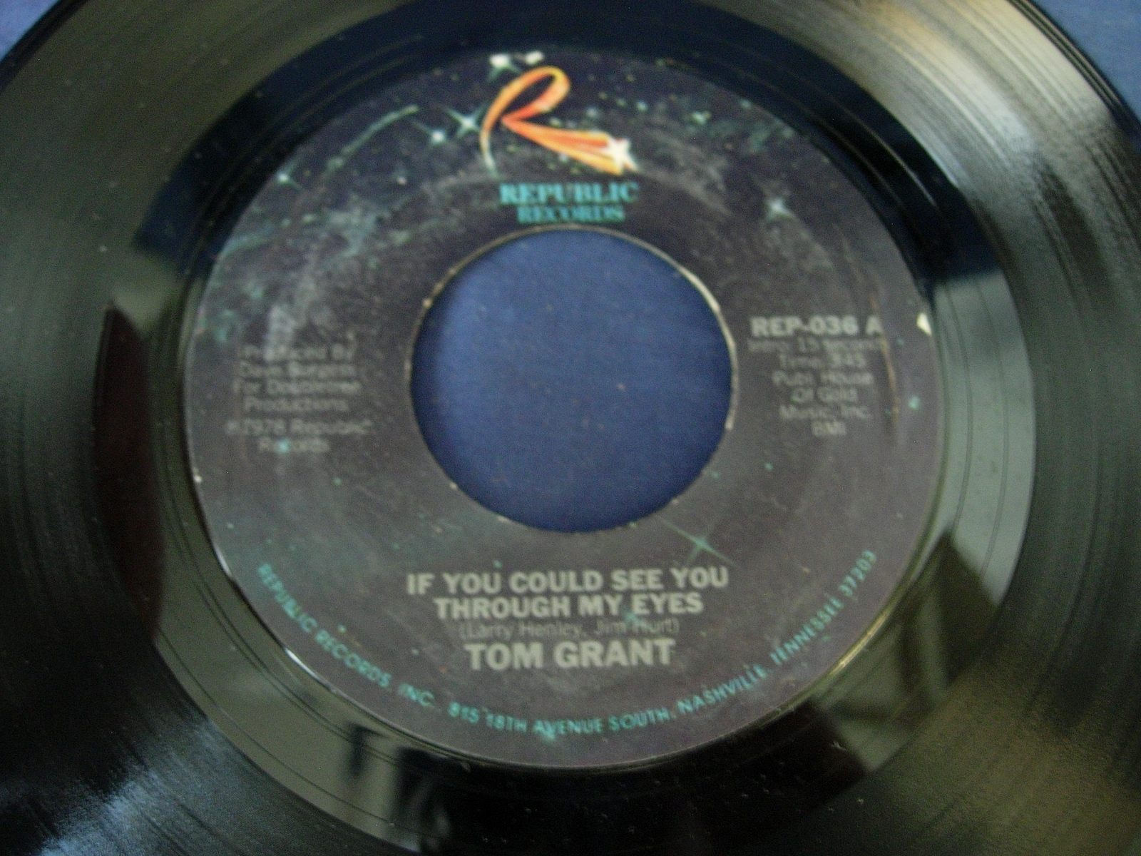 Tom Grant - If You Could See You Through My Eyes - Republic Records REP-036