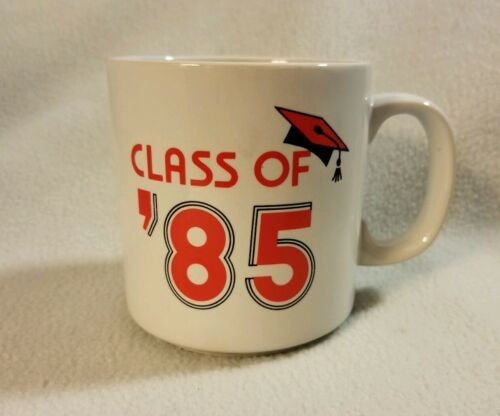 Primary image for Vintage Russ Berrie Class Of 1985 Coffee Mug Graduation Retro College High Red