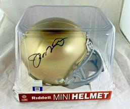 JOE MONTANA / NFL HALL OF FAME / AUTOGRAPHED NOTRE DAME MINI HELMET / PLAYER COA image 6