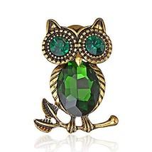 AILUOR Cute Black Eyed Owl Brooch Pin, Elegant Vintage Rhinestone Crystal - $13.67