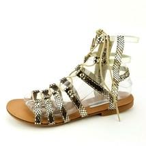 Steve Madden Sparra Gladiator Gold Sandals Size 8.5 - $23.12