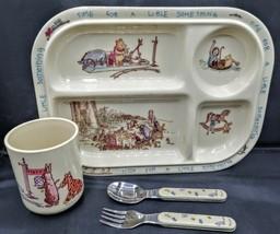 Vtg. 1979 Selandia Disney Winnie The Pooh Toddler Plate, Cup, Spoon & Fo... - $34.64
