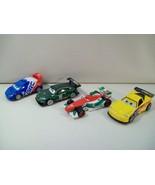 4 DISNEY CARS GRAND PRIX DIE CAST CARS GORVETTE NIGEL GEARSLEY RAOUL FRA... - $19.55