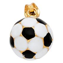 14K Yellow Gold & Enamel Soccer Ball Pendant - $179.99
