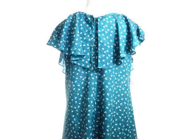 Ginko Leaf Print Dress M