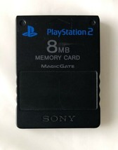 ☆ Official Sony PlayStation 2 Black Memory Card (8 MB) PS2 SCPH-10020 Wo... - $14.17 CAD
