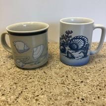 OTAGIRI Japan Coffee Mugs Lot of 2 Sea Shell Coastal Beach Coffee Cups - $12.19