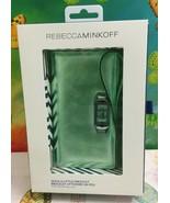 REBECCA MINKOFF Multi Function Metallic Green Wallet Phone Case Wristlet - $42.06