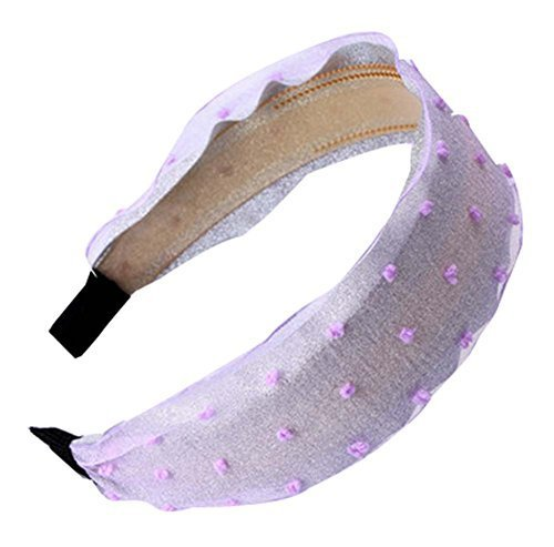 Elegant Wide - edge Hair Hoop Headband Hair Hoop Lace Hair Ornaments,Purple