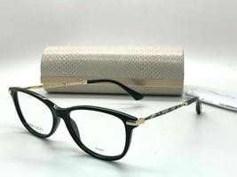 Jimmy Choo Eyeglasses Jc 207 807 Black 54-15-140MM Italy Case& Cloth - $77.57