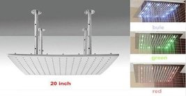 "20"" Water Power Square 3 Color LED Temperature Sensitive Rainfall Shower Head ,  - $485.05"