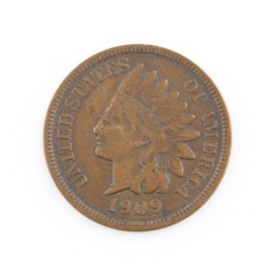 1909 1c Indian Head Cent Penny XF EF Extremely Fine