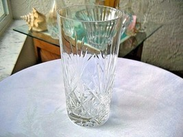 Beautiful Clear Crystal Highball Glass Maker Unknown - $18.80