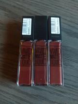 Three Maybelline NY Vivid Matte Liquid Lip Color Sensation #37 Coffee Bu... - $14.03