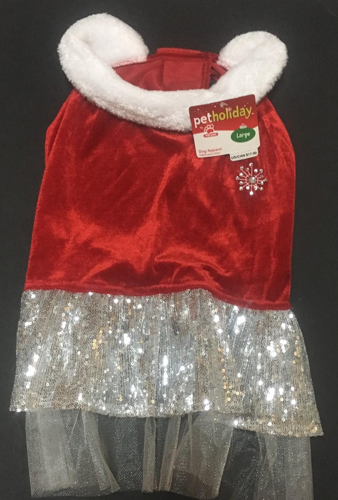 Pet Holiday Christmas Dress Female Large