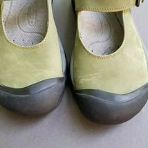 Keen Womens Mary Jane 7.5 Buckle Strap Green Suede Slip On Trail Shoes 38 image 4