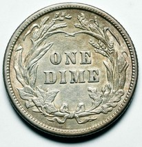 1913 Silver Barber Dime 10¢ Coin Lot# A 245 image 2