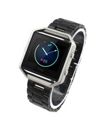 Stainless Steel Watchband for Fitbit Blaze - Black - $21.21
