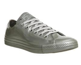 Converse Fabulous Silver Metallic Shiny Rubber Women's Ox Low Shoes Nwt Disc Htf - $74.99