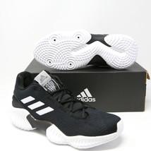 Adidas pro Rebote 2018 bajo Baloncesto Zapatos Negros Blanco AH2673 NCAA... - $130.88