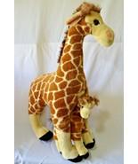 "FAO Schwarz Giraffe Mother and Baby Stuffed Plush Animal Large 24 1/2"" - $39.59"