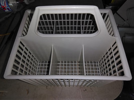 "8QQ51  GE GSD500T DISHWASHER UTENSIL BASKET, 8-1/2"" X 8-1/2"" X 7"", VERY ... - $11.76"