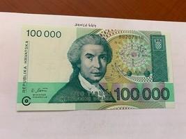 Croatia 100.000 dinara uncirc. banknote 1993 #1 - $4.95