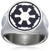 Star Wars Jewelry Men's Imperial Symbol Stainless Steel Ring, Size 11