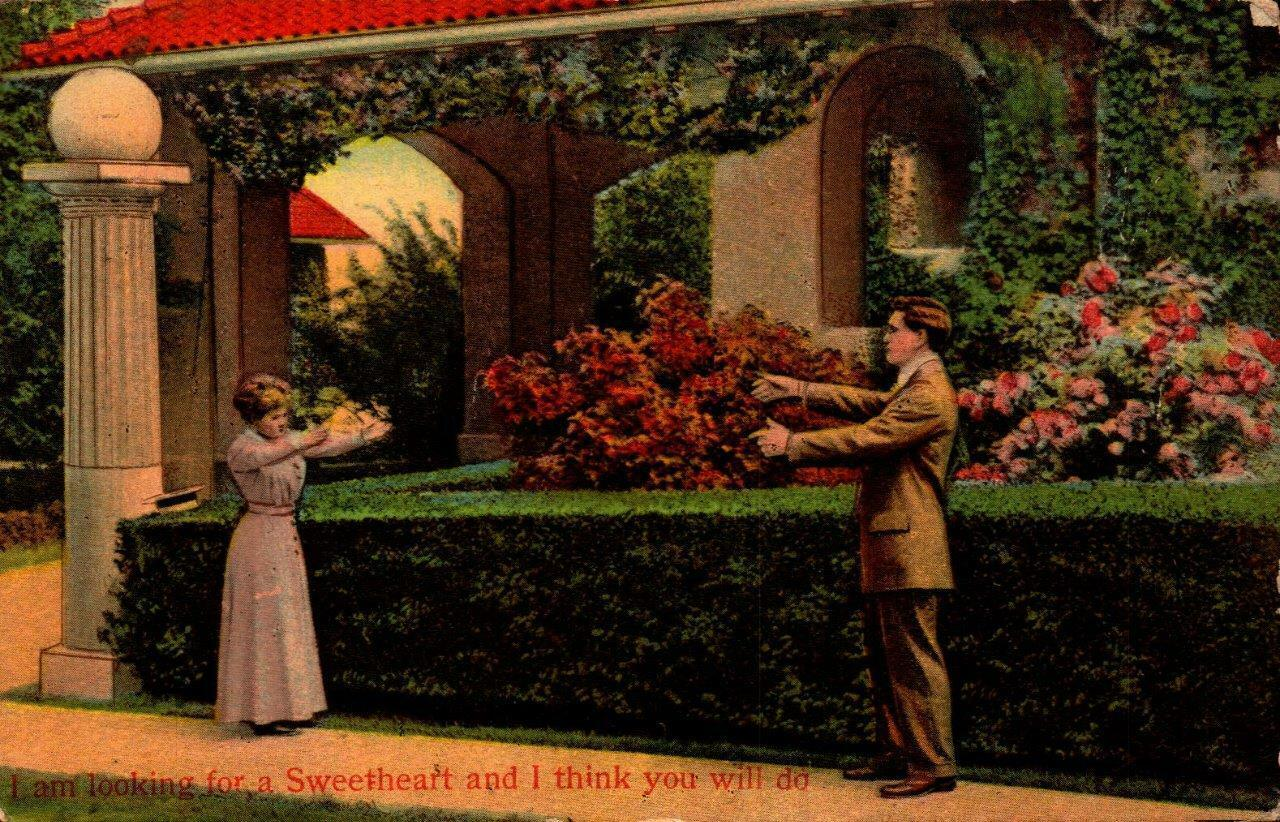 "Primary image for VALENTINE POSTCARD-""I AM LOOKING FOR A SWEETHEART AND I THINK YOU WILL DO"" BK21"