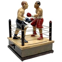 Battling Boxers Die Cast Iron Mechanical Coin Bank Collectible Money Sto... - $73.25