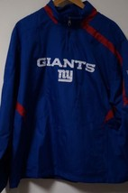 REEBOK New York Giants 1/2 Zip Polyester On Field Jacket Blue Men's Size L - €16,80 EUR
