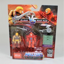 Mega Construx Masters of The Universe Figures He-Man vs Beast Man, 44 Pi... - $14.24