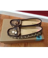 Michael Kors Brown MK logo Textile & Leather Sneakers Flat Size 7.5M New - $78.21