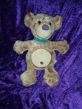 Manhattan Toy Stuffed Plush Teddy Bear Tan Brown White Blue Collar Purple 2001 - $98.99