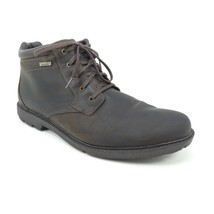 Rockport Storm Surge Boots Size 14 Brown Leather Lace Up Hydro Shield Wa... - $37.04