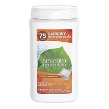 Seventh Generation Laundry Detergent Packs, Fresh Citrus & Sandalwood Scent, 75