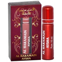 Haramain Aysha Perfume Oil/Atar Jasmine Fruit Patchouli Mush Wood 10ml Roll-On - $3.93