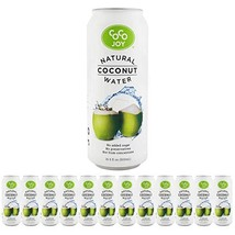 Coco Joy Coconut Water 16.9 oz 12 Pack - Refreshing Low Calorie, High Calcium Dr